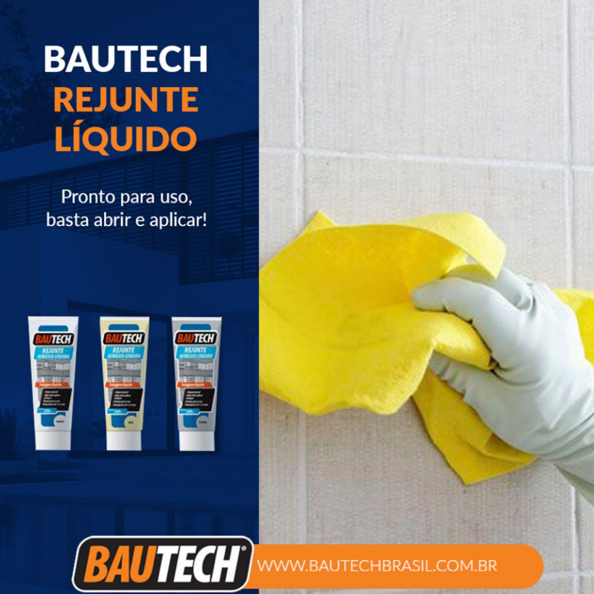 Rejunte Acrílico Liquido Bautech Branco 470g