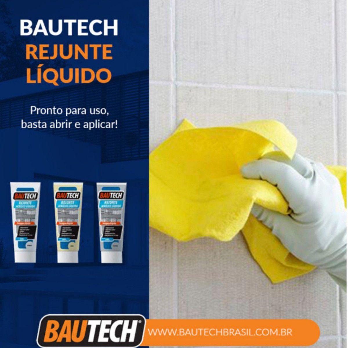 Rejunte Acrílico Liquido Bautech Platina 470g