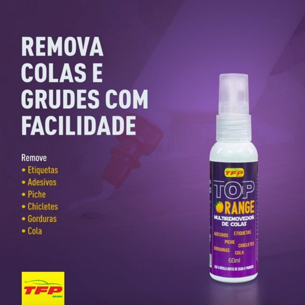 Remove Colas, Grudes e Piche - Top Orange TFP 500ml