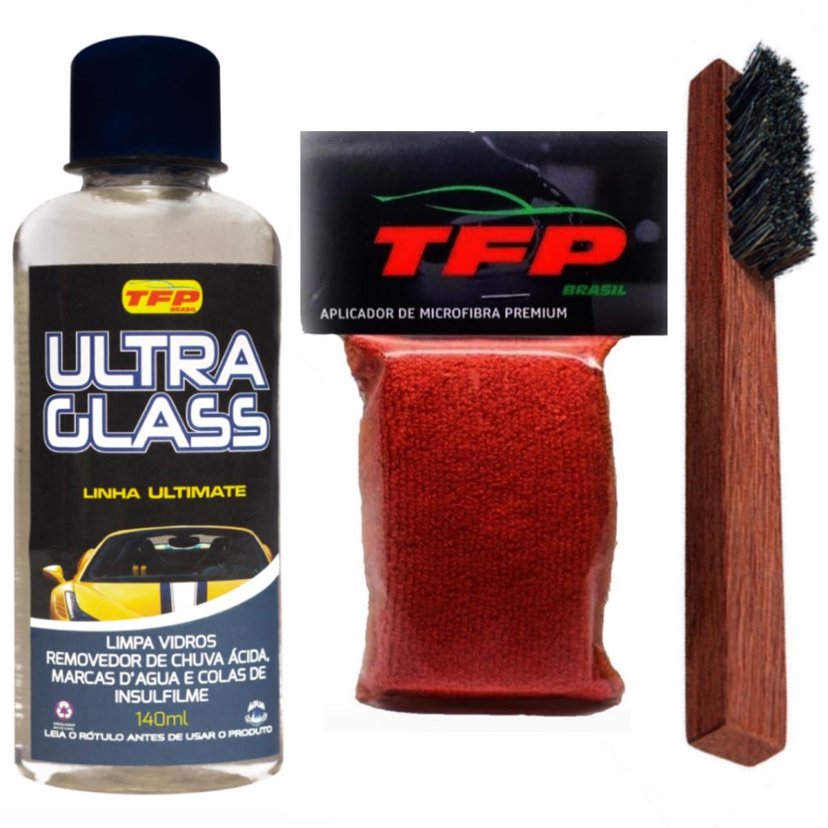 Removedor De Chuva Ácida Ultra Glass + Aplicador e Escova