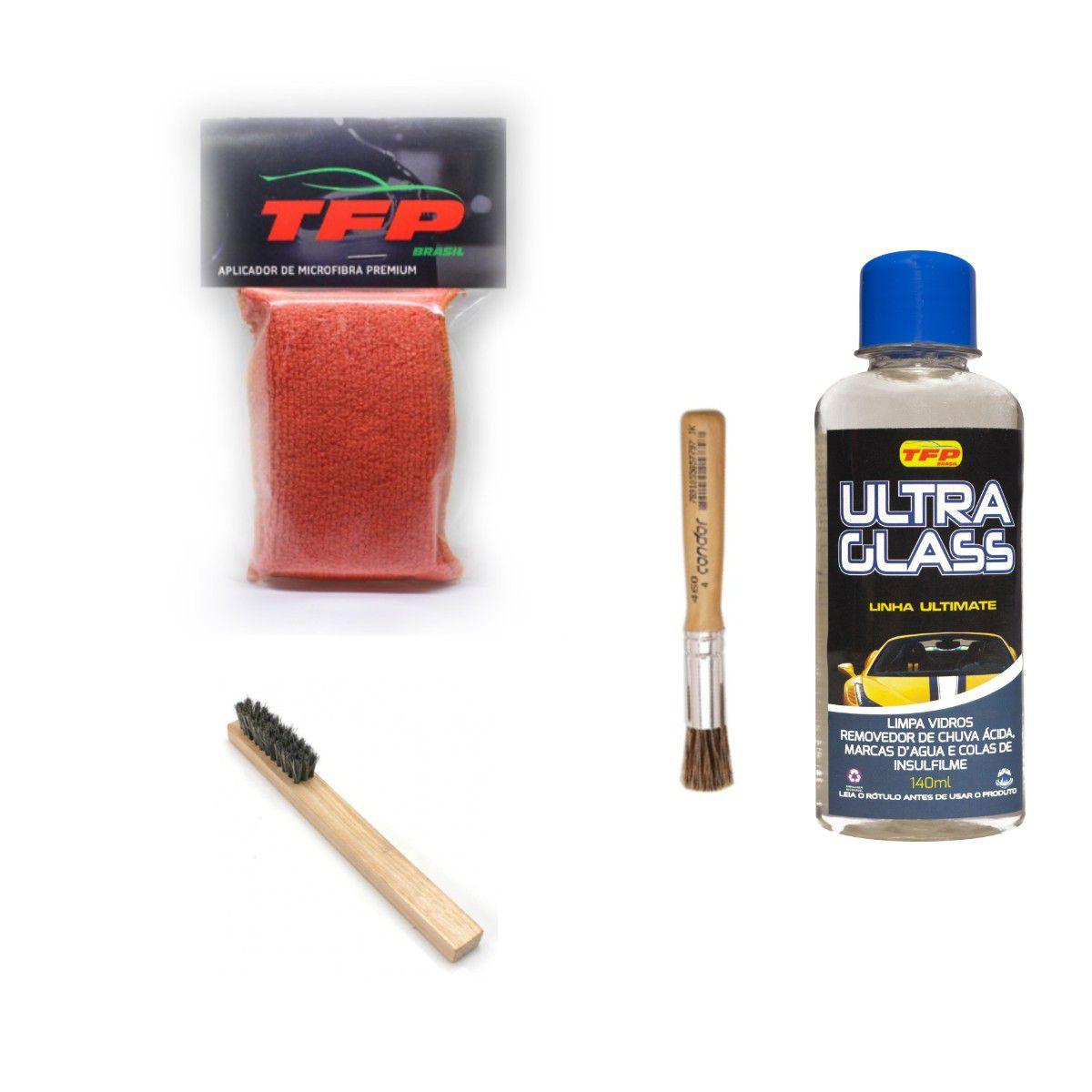 Removedor De Chuva Ácida Ultra glass + Pincel Escova e Aplicador