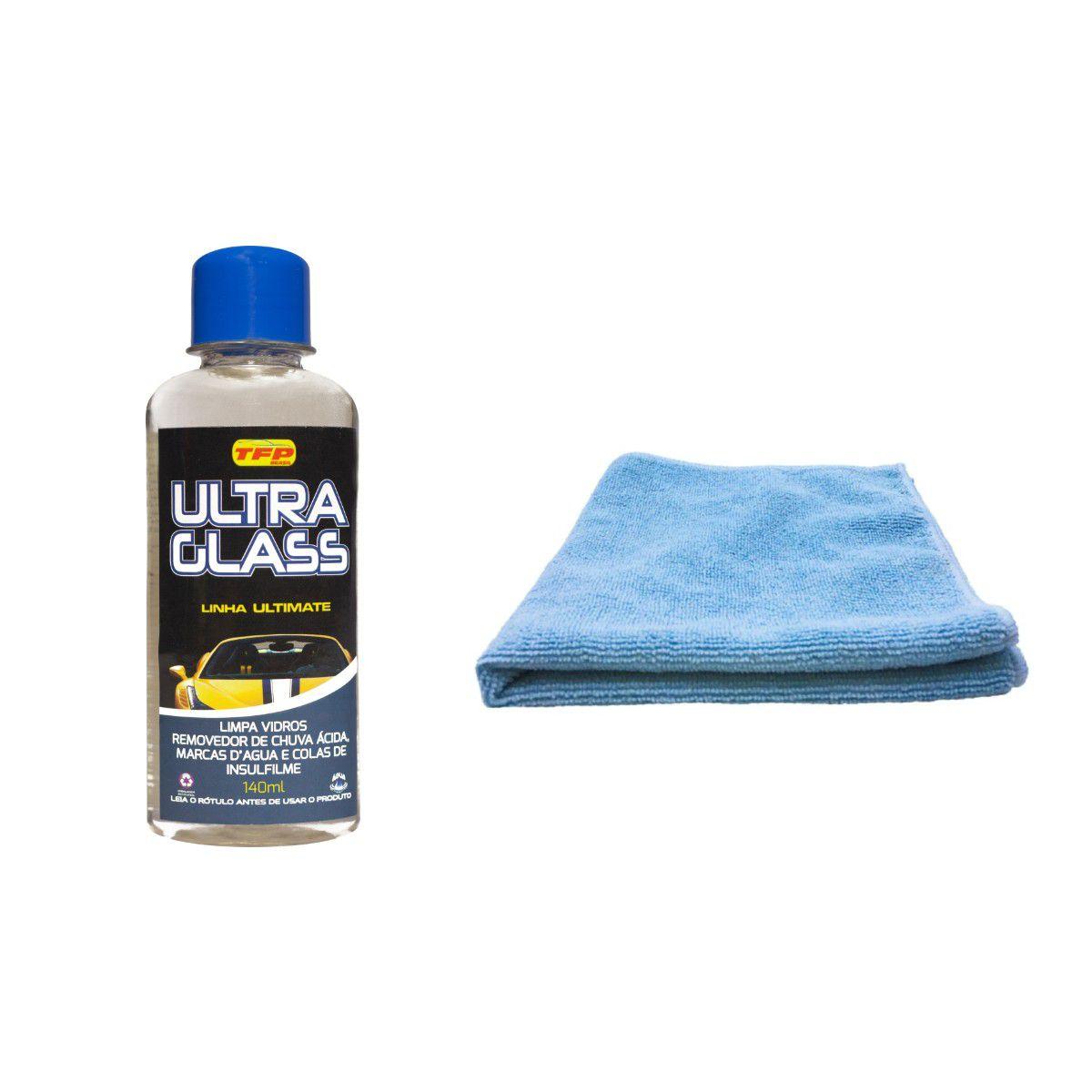 Removedor De Chuva Ácida Ultra Glass Tira Mancha Limpa Vidro  + Microfibra