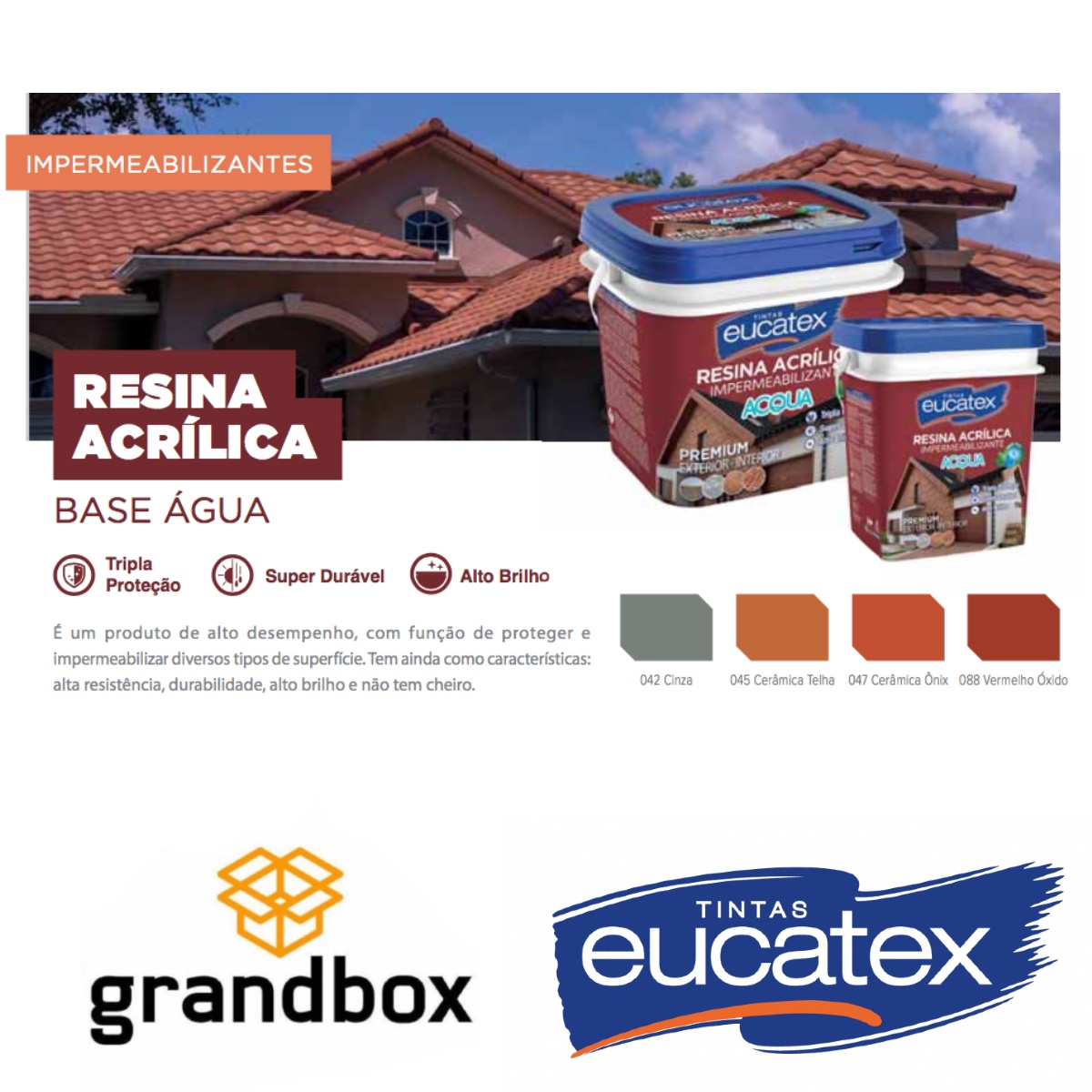 Resina Acrílica Multiuso Eucatex Acqua 3,6L