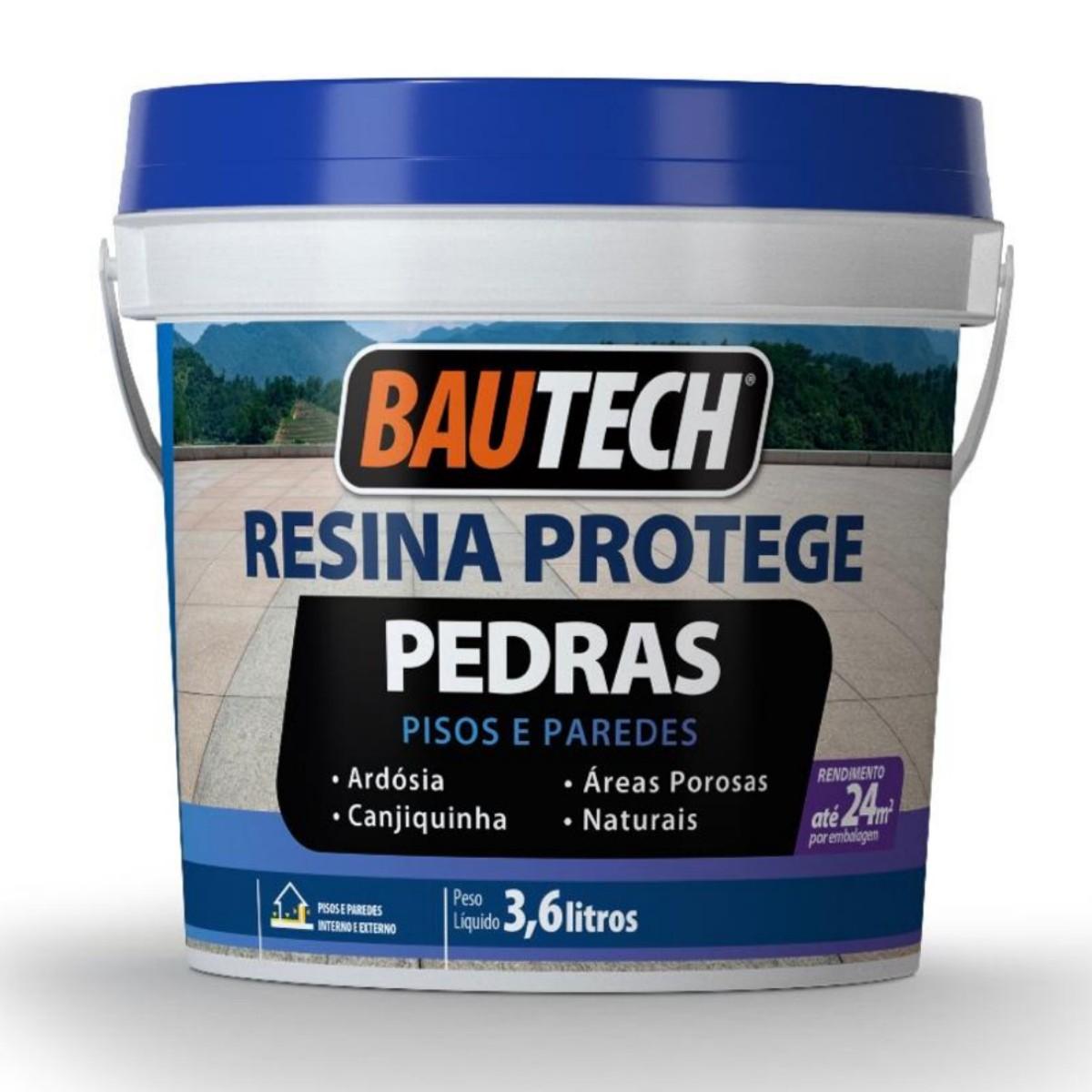Resina Acrilica Protege Pedras Bautech 3,6L