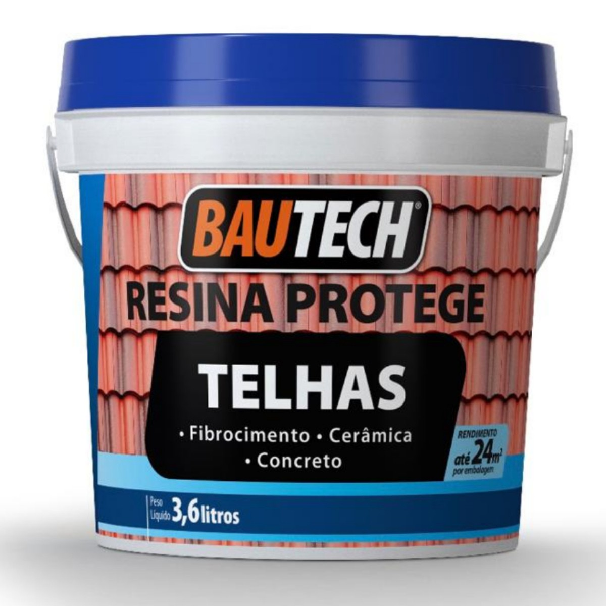 Resina Acrilica Protege Telhas Bautech 3,6L