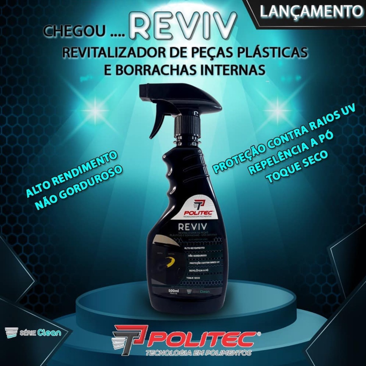 Revitalizador Interno Plastico Borracha - Reviv 500ml
