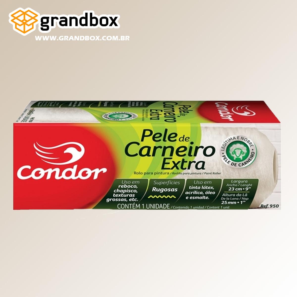 Rolo Pele Extra Carneiro Superfícies Rugosas 23cm Condor 950