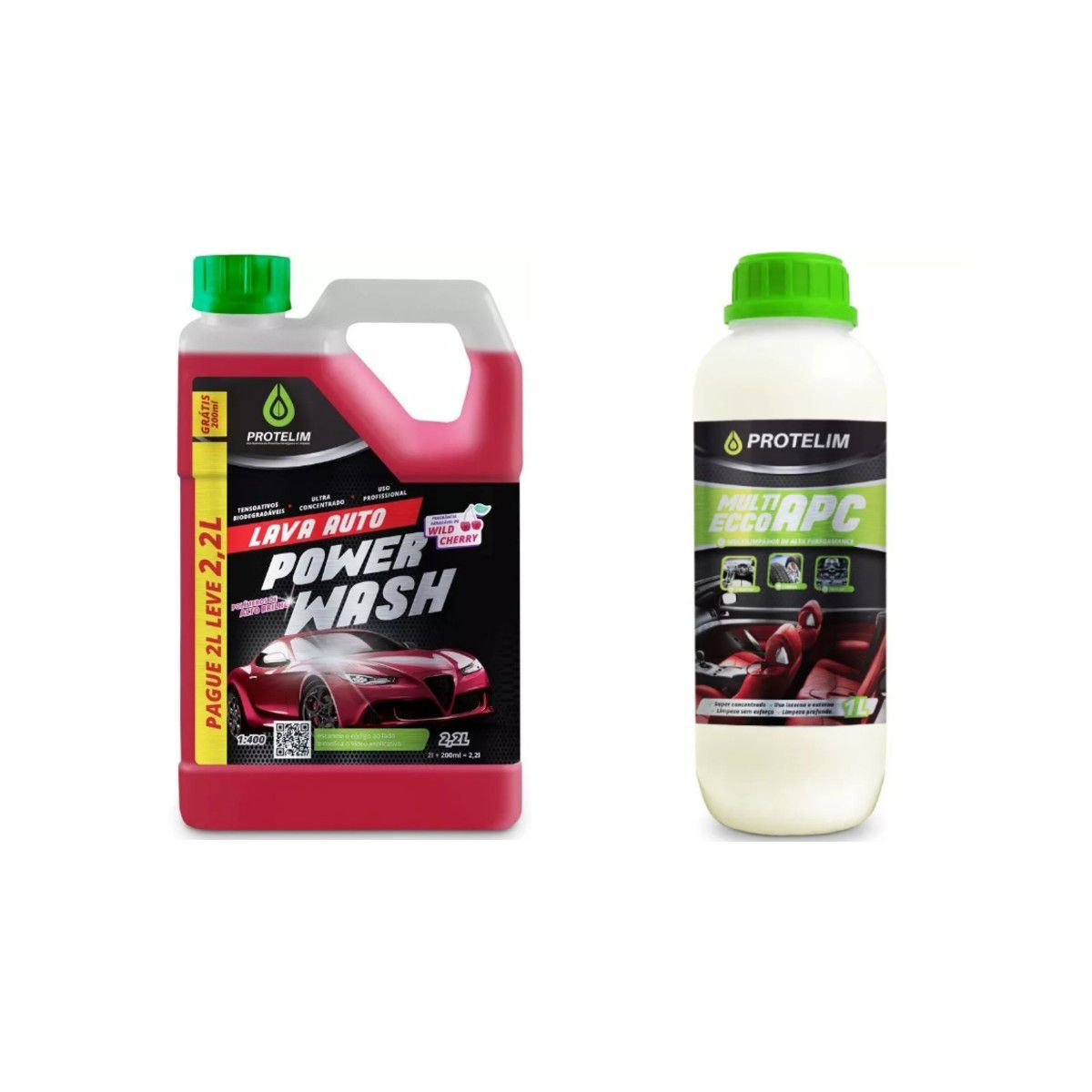 Shampoo Automotivo Lava Auto Power Wash + APC Multilimpador