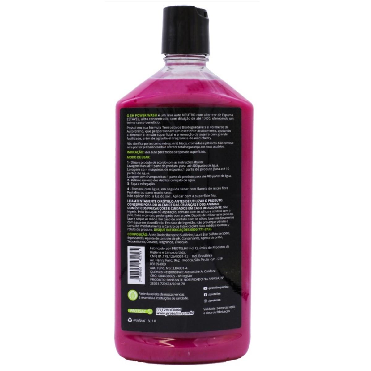 Shampoo Automotivo Lava Auto Power Wash Protelim 500ml