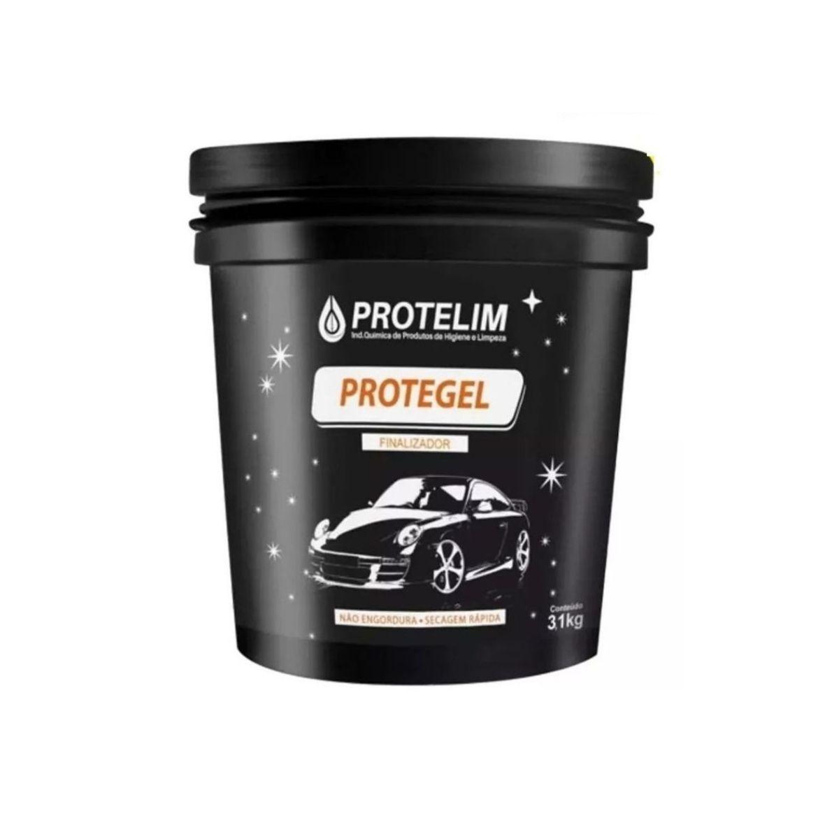 Silicone Revitaliza Plásticos e Pneus Protegel 3,1l Protelim