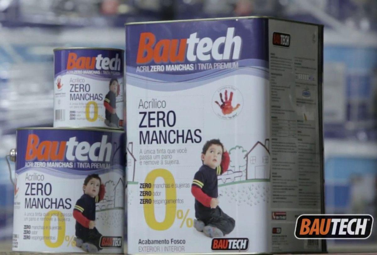 Tinta Acrílica Zero Manchas Bautech Branco 3,6l