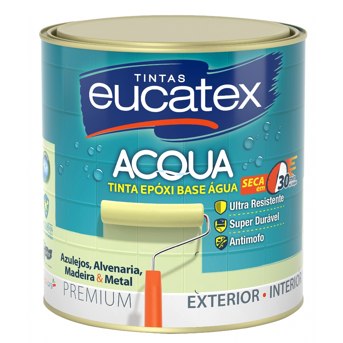 Tinta Epóxi Base Agua Eucatex Acqua Branco 900ml