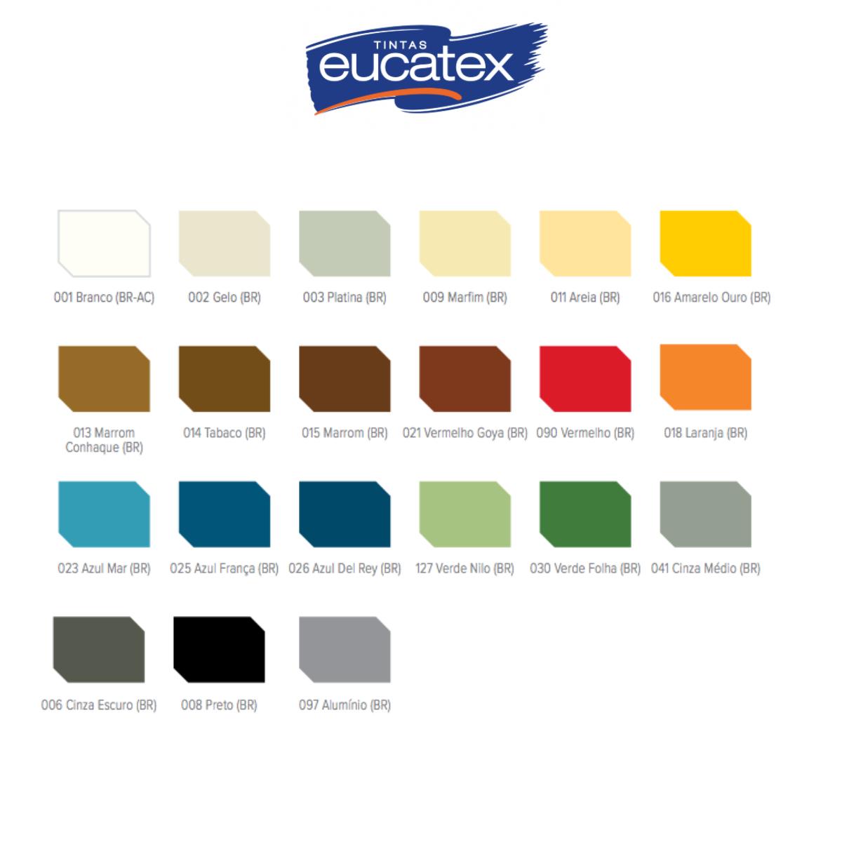 Tinta Esmalte Brilhante Eucatex Peg e Pinte 3,6L (Cores)