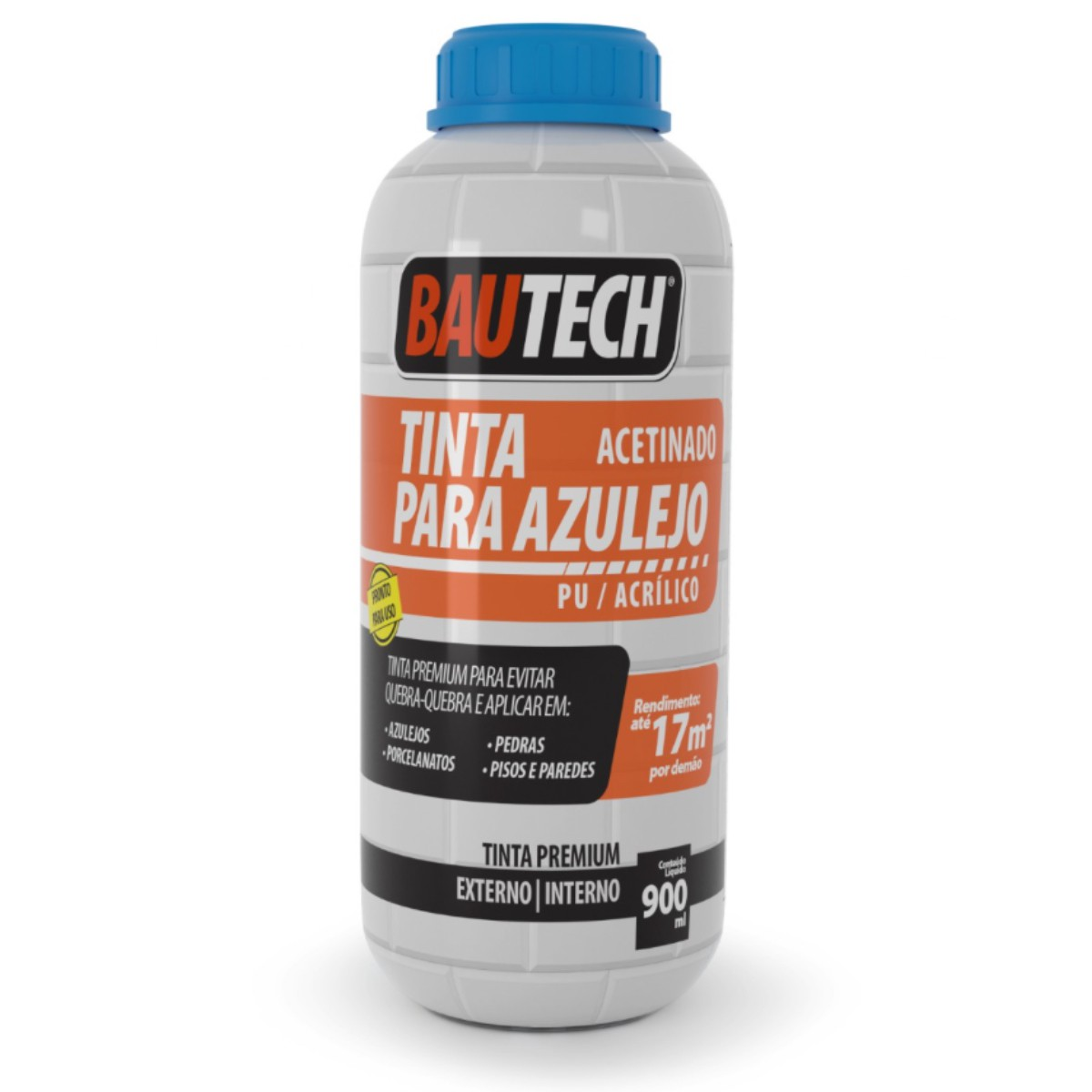 Tinta Para Azulejo Acetinado PU / Acrílico Bautech 900ml