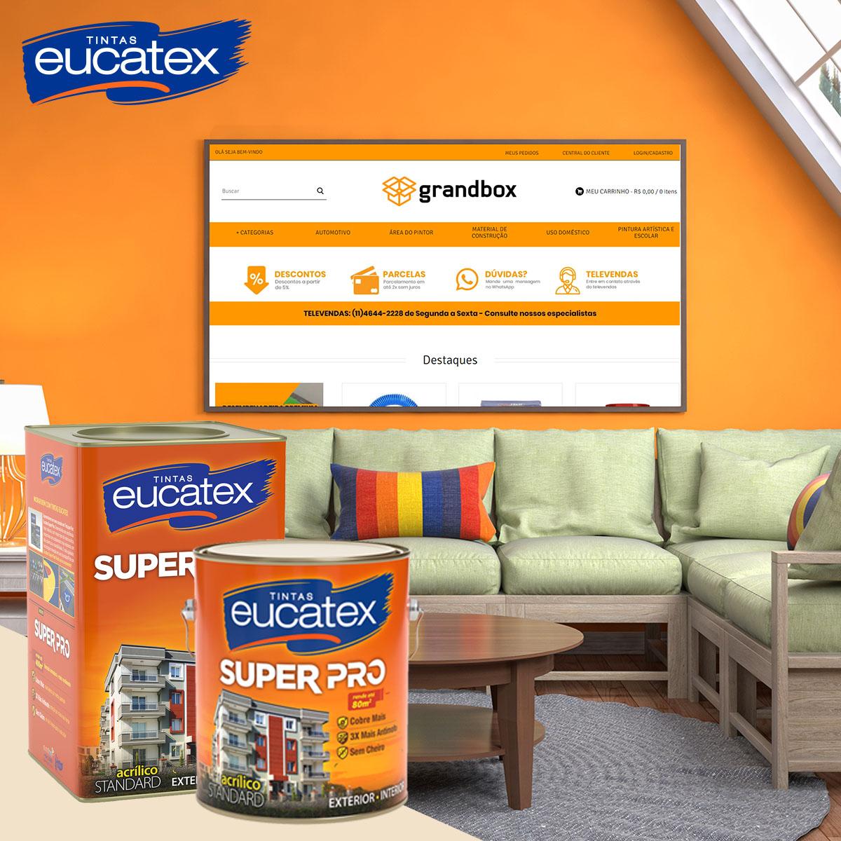 Tinta Parede Acrílico Fosco Super Pro Eucatex 18L