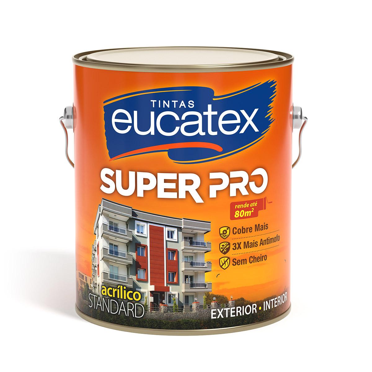 Tinta Parede Acrílico Fosco Super Pro Eucatex 3,6L