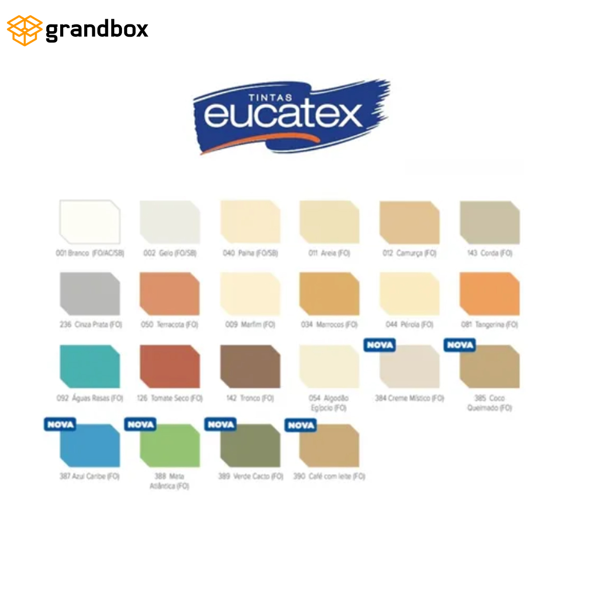 Tinta Parede Fosco Lavavel Protege Eucatex Branco 900ml