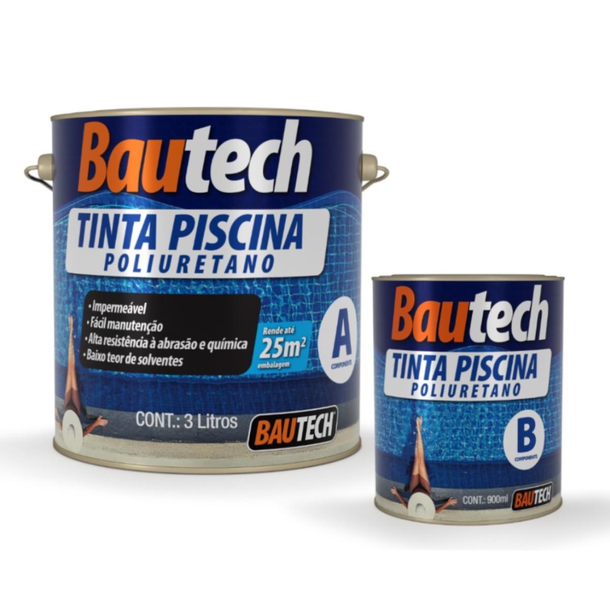 Tinta Piscina Poliuretano Bautech 4kg