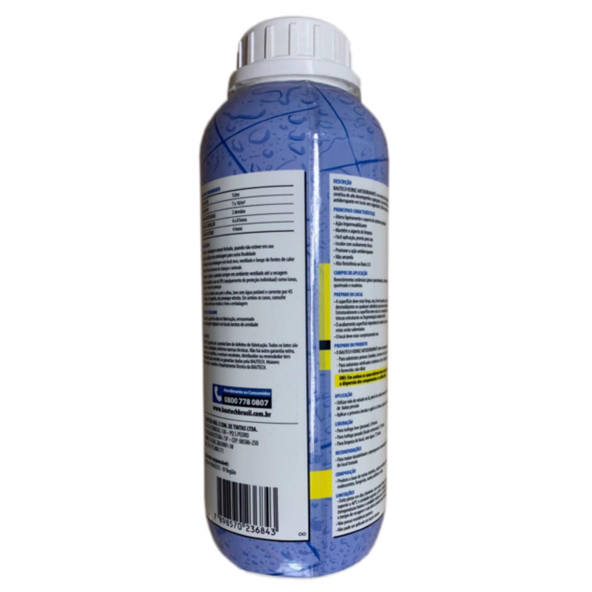 Verniz Antiderrapante Bautech 1L (BRINDE Pincel / Trincha)