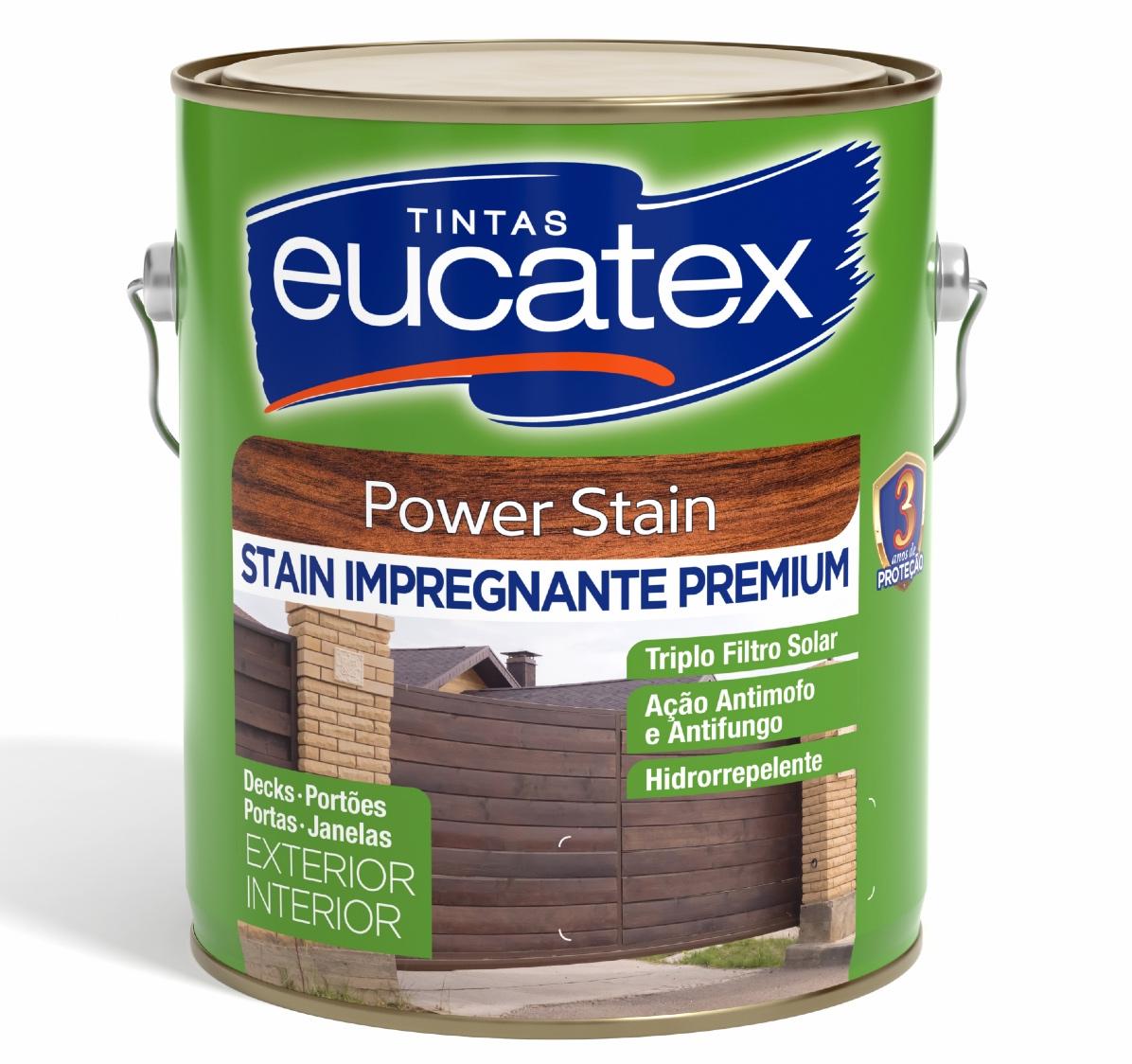 Verniz Madeira Deck Power Stain Premium Eucatex 3,6L