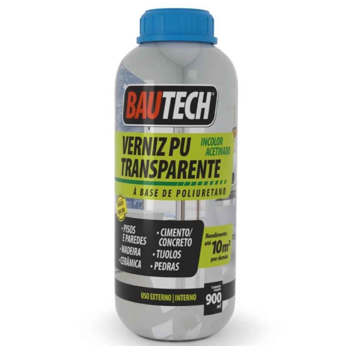 Verniz PU Mono Transparente Bautech 900ml