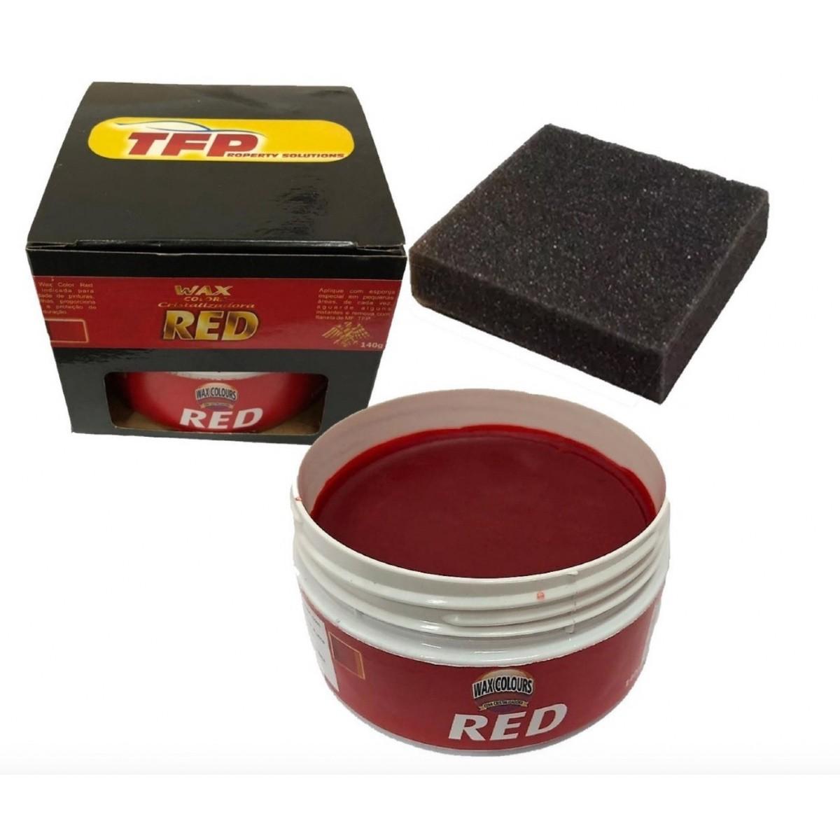 Vitrificador Automotivo De Pintura 50ML + Cera Automotiva Cristalizadora Wax Color Red