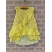 Conjunto Amarelo Babados Petit Cherie