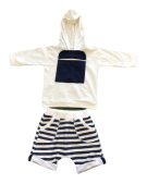 Conjunto Camisa Linho Bermuda Xadrez -1+1