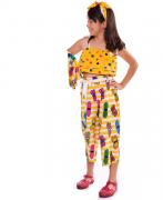 Conjunto Estampado Amarelo Borboletas Antonita