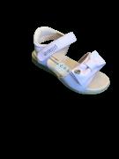 Sandália Rosa De Velcro Com Laço - Ortopé