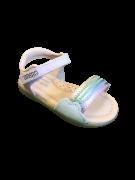 Sandália Velcro Arco-Íris - Ortopé