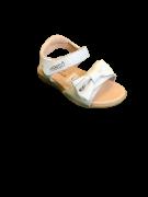 Sandália Velcro Com Laço Branca - Ortopé