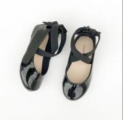 sapatilha boneca bailarina elástico preta - contramão