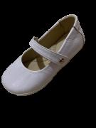 Sapato Boneca Couro Branco Gambo