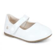 sapato boneca verniz branco - bibi