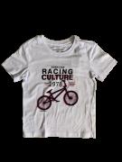 T-shirt Branca Bicicleta Gola Careca Calvin Klein