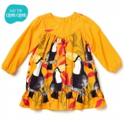 Vestido Amarelo Do Tucano Manga longa - Camu Camu