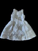 Vestido Branco Bordado com Dourado Petit Cherie