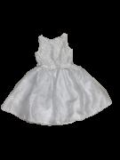 Vestido Branco Busto Bordado Petit Cherie