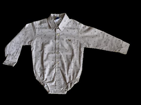 Camisa Social Body Baby Marfim 1+1