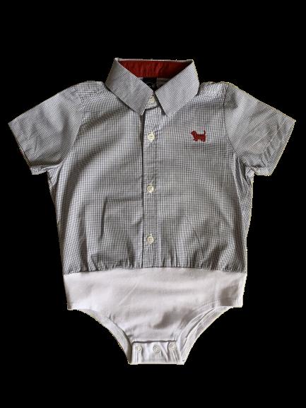 Camisa Social Body Baby Quadriculada 1+1