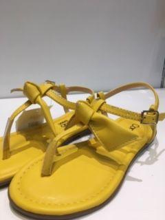 Rasteira Colors Amarela Laço