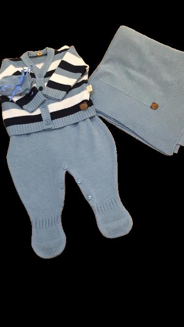 Saida De Maternidade Azul Kit Fofo