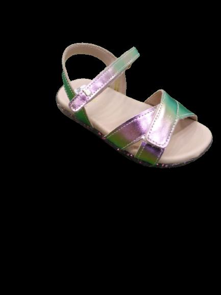 Sandália Baby Soft Couro Holografico - Bibi