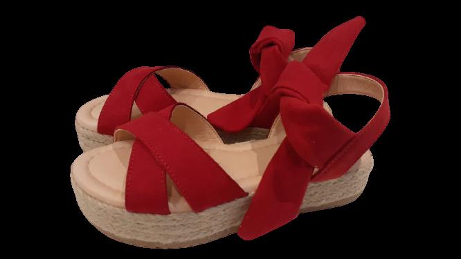sandália corda vermelha - menina rio