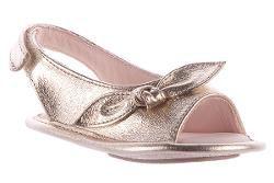 Sandália Dourada Laço Maria Caramelo