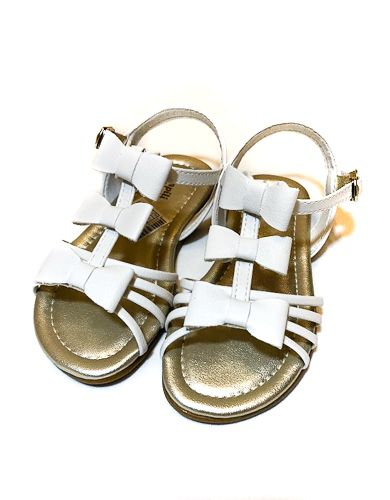 sandália linda trio de laços  branca - pampili
