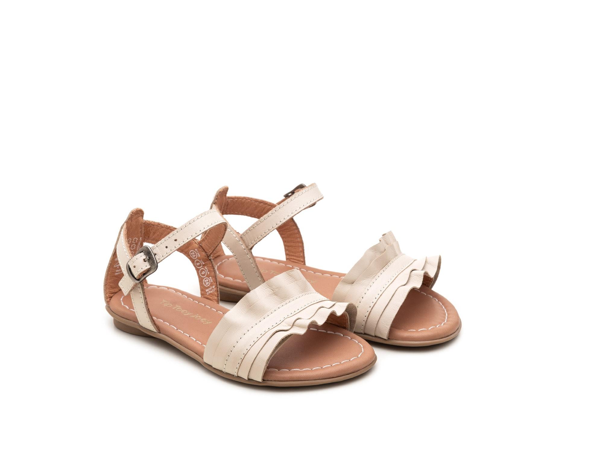 sandália ruffle branca - tip toey joey