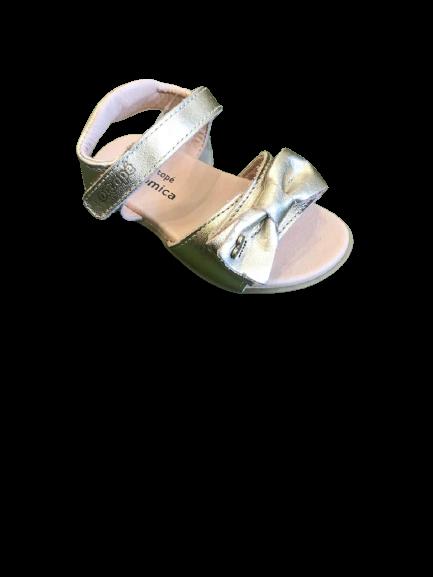 Sandália Velcro Dourada - Ortopé