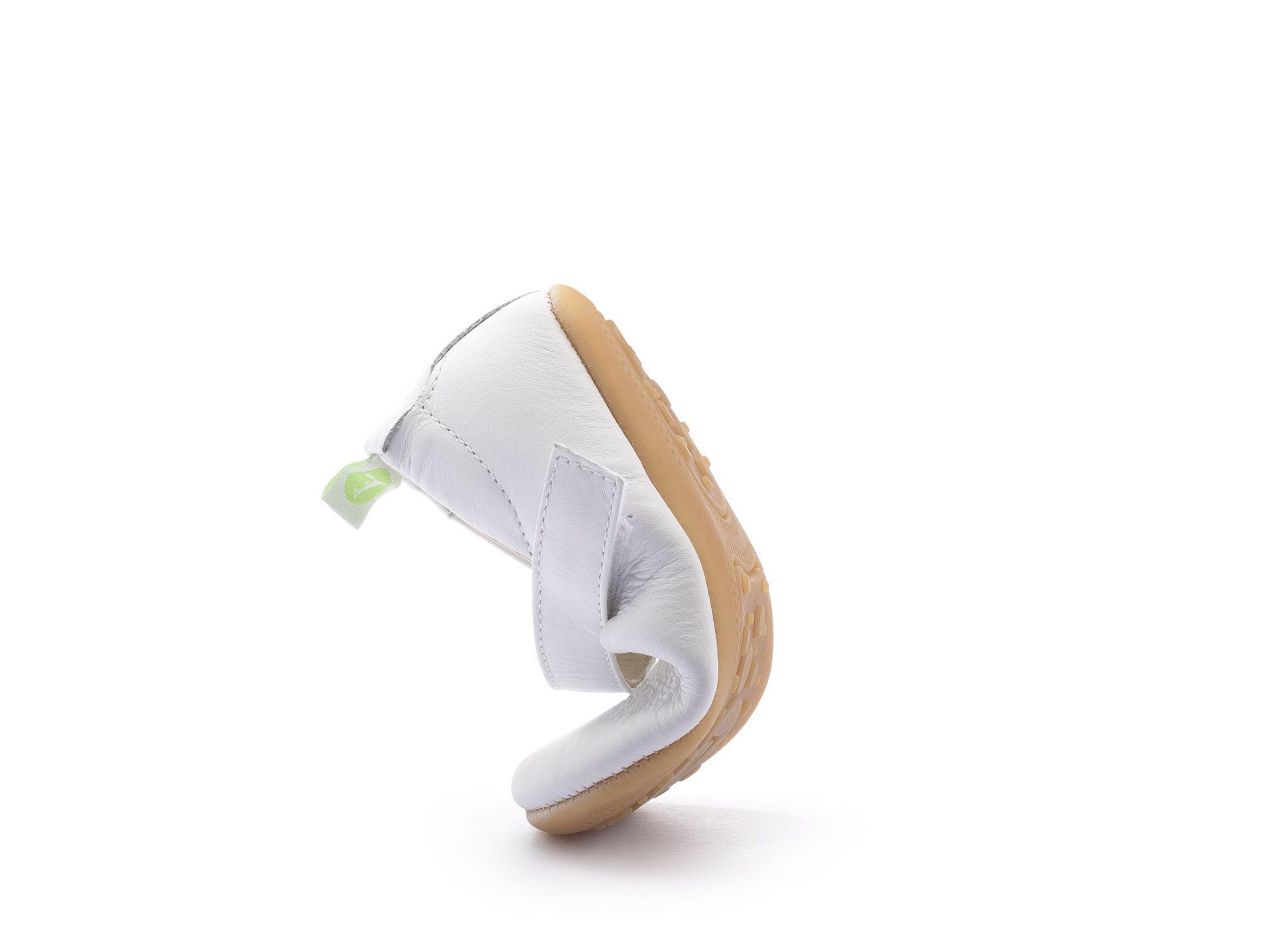 Sapato Couro Branco Fosco Dolly Tip Toey Joey